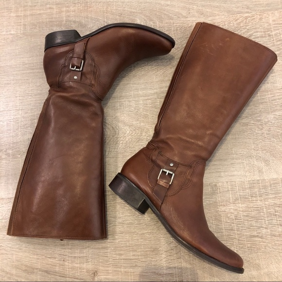 1455de359cba Matisse Foxtrot brown leather riding boots size 10.  M 5bed9b95fe51514e1bd46ed0
